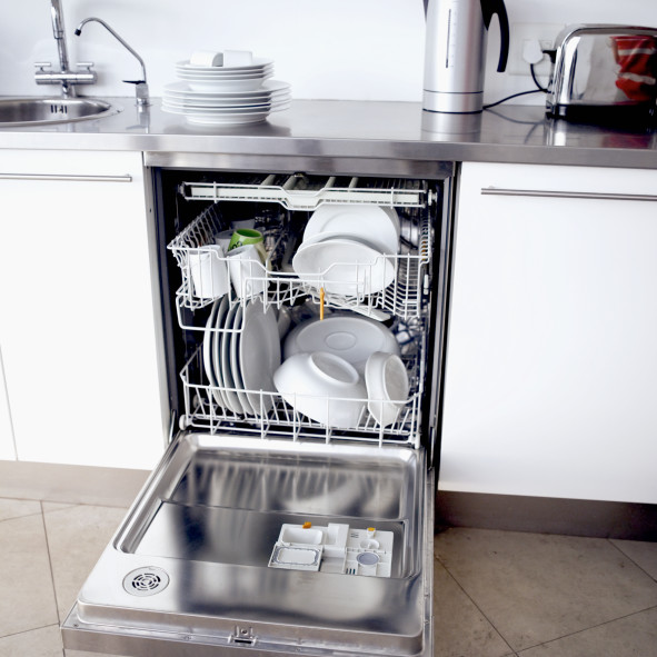 If you've got a dishwasher, make sure it's an energy-efficient one. Want more water conservation tips? Check out these 10 easy ways to save water at home.