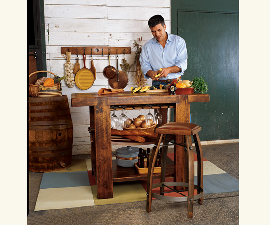 Good: Barrel Stave Kitchen Island ($899)