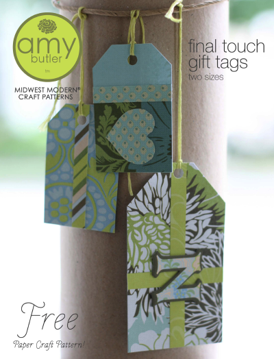 Get the PDF for these final touch gift tags. They'd look great on wedding gifts.