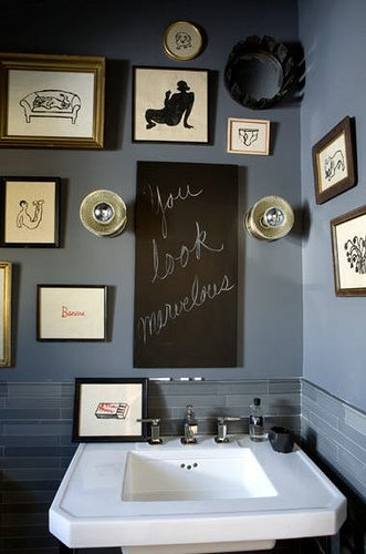 Love It or Hate It? A Chalkboard as a Mirror Alternative