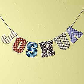 Boys Vintage Wallpaper Print Letter Wall Decor
