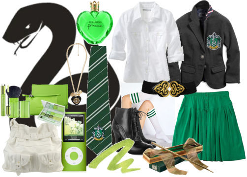 Harry Potter: Slytherin Polyvore Set