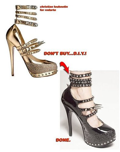 Chic Steals: Don't Buy, DIY: Christian Louboutin for Rodarte Super-Spiked Heels