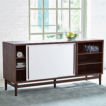 modern storage console| west elm