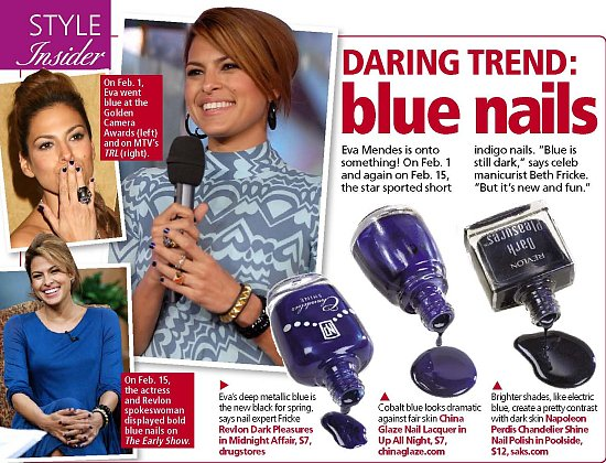 Great Minds Think Alike: Blue Nail Polish