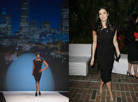 Who Wore It Better? Naomi or Demi in a Zac Posen LBD