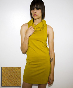 Fabworthy: American Apparel Mustard Jersey Dress