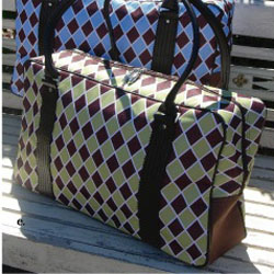 Argyle Overnight Bag BrownGreen_lg