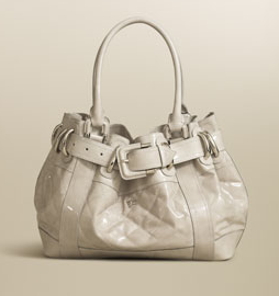 The Bag To Have: Burberry Patent Beaton in Stone
