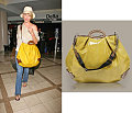 Found! Cameron Diaz's Patent Yellow Bag