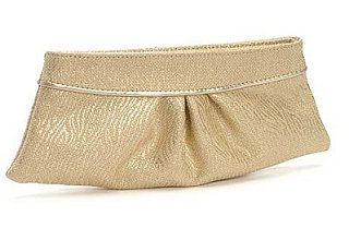The Look For Less: Lauren Merkin Metallic Clutch