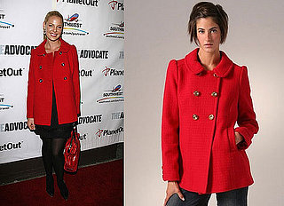 Found! Katherine Heigl's Red Pea Coat