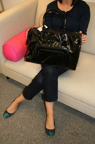 Last Chance to Win The Black Patent Longchamp Bag!