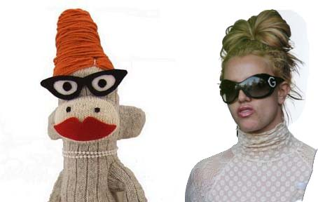Britney Spears Sock Monkey Style