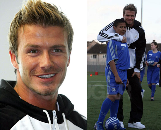 David Beckham Hits the Web