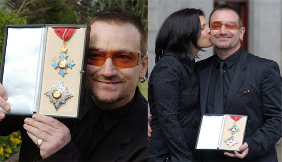 Bono Gets Knighted - Just Don't Call Him Sir