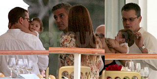 Damon, Clooney, and Isabella - Oh My!