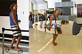Matthew Shows His Stripes at LAX