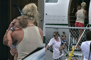 Britney and The Boys Leave Hawaii