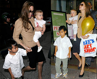 Angelina, Shiloh and Maddox Get Artsy for Father's Day