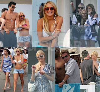Lindsay Lohan and Paris Hilton's 4th of July Bikini Celebrations