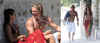 Photos of Matthew McConaughey and his girlfriend Camila Alves Last Summer 4th of July