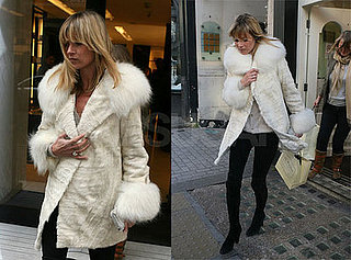 Kate Moss Gets Into the Holiday Spirit