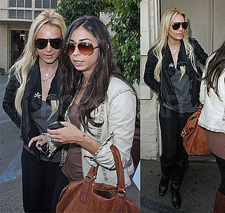 Lindsay Lohan and Courtenay Semel at La Scala