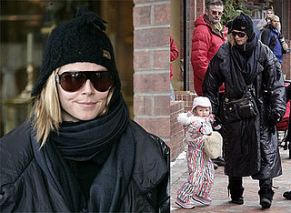Heidi Klum and Leni Klum in Aspen, Colorado