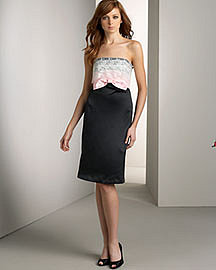Betsey Johnson Strapless Lace Dress Neiman Marcus