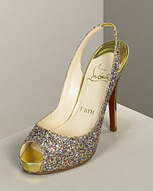 Pre Fall Collection Christian Louboutin Glitter Pump?-? Christian Louboutin?-? Neiman Marcus