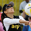Volleyball Tourney: Take it From Eva Longoria
