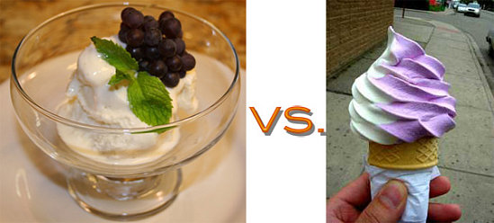 Gelato vs. Soft Serve Ice Cream