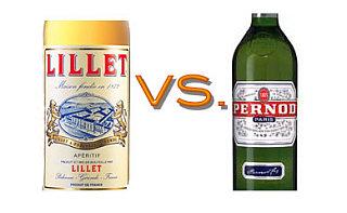 Bastille Day:  Lillet vs. Pernod
