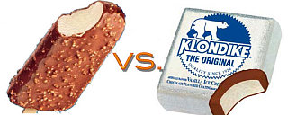 Klondike Bar vs. Crunch Ice Cream Bar