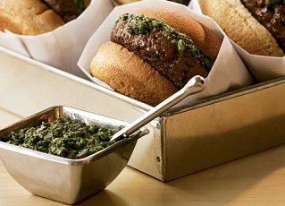 Healthy BBQ:  South Beach Diet Chimichurri Burgers