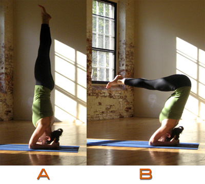 Strike a Yoga Pose: Headstand A and B