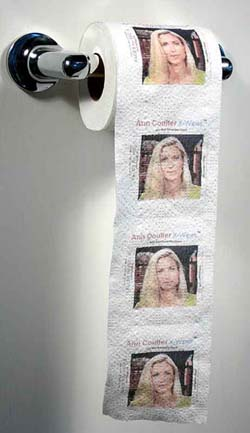 GiggleSugar Exclusive! Product of the Day: Ann Coulter Toilet Paper