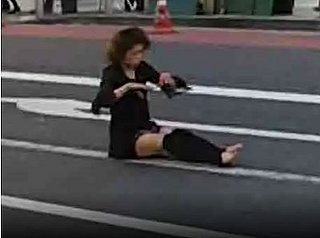 Dancing Woman in Shinjuku District
