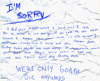 Found! An Apology Letter