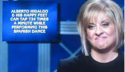 "Nancy Grace On ""Jeopardy"": Smug As Usual"