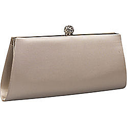 Nicole - La Regale Rhinestone Topped Satin Clutch