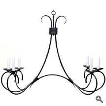Steel Six Light Chandelier - Grandin Road
