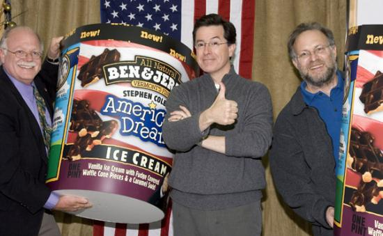 Ben &amp; Jerry Do &quot;The Colbert Report&quot;