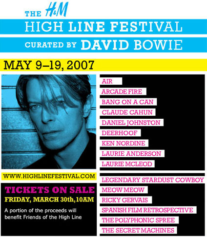 High Line Music Festival: Designed by David Bowie