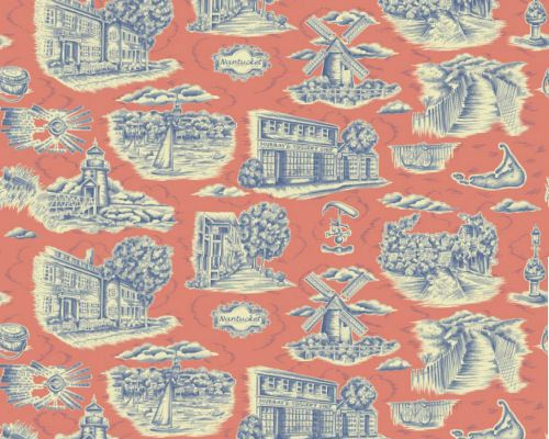 nantucketblueredfabric