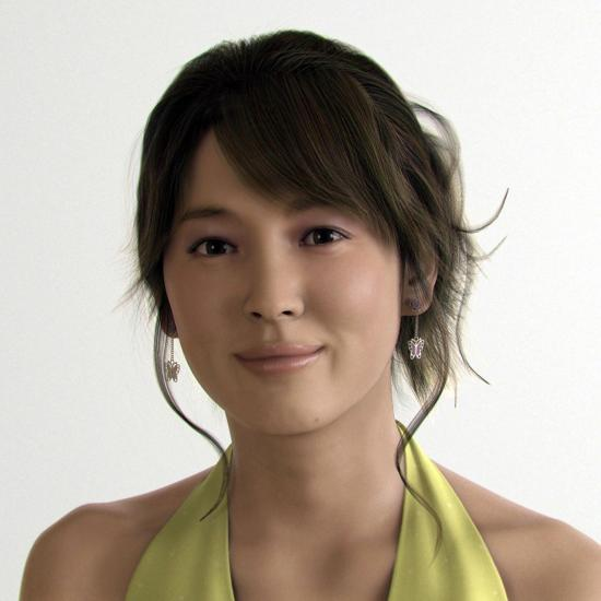 Korean Actress Poses For Computer-Generated Image