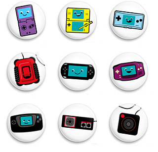 Totally Geeky or Geek Chic? Gaming Themed Buttons