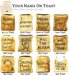 Website of the Day: Your Name On Toast