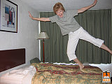 hotel bed jumping 3
